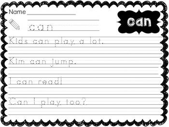 Dolch Pre-Primer Sight Word Sentences