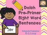 Dolch Pre-Primer Sight Word Sentences