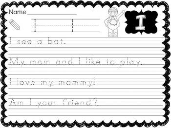 Dolch Pre-Primer Sight Word Sentences: Bundle
