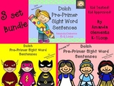 Dolch Pre-Primer Sight Word Sentences: Bundle