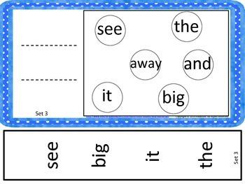 Dolch Pre-Primer Sight Word Slides