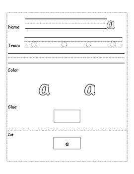 Dolch Pre-Primer Sight Word Trace, Color, Cut, Glue