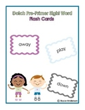Dolch Pre-Primer Sight Word Vocabulary Flash Cards