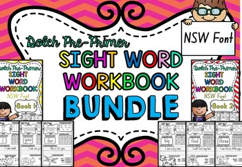 Dolch Pre-Primer Sight Word Practice Workbook BUNDLE ***NS