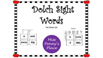 Dolch Pre-Primer Sight Words