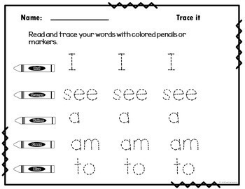 Weekly Sight Word Worksheets