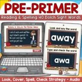 Dolch Pre-Primer Sight Words Digital