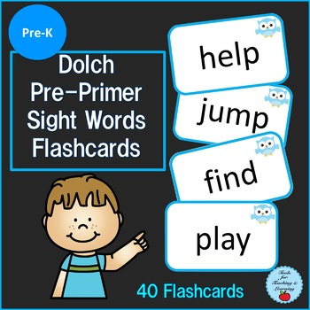 Dolch Pre-Primer Sight Words Flashcards