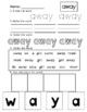Dolch Pre-Primer Sight Words Practice Worksheets, Orton, P