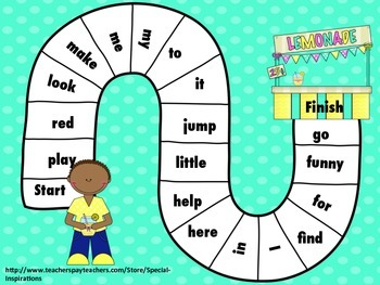 Dolch Pre-Primer Sight Words Sorting Activity PLUS 3 Board Games! (Spring)