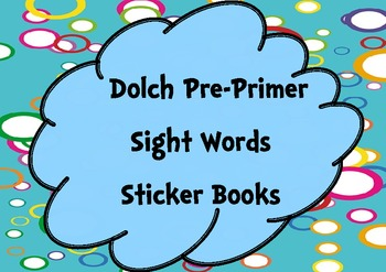 Pre-Primer Sight Words Sticker Books