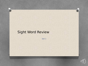 Dolch Pre-Primer Sight Words Timed and Narrated PowerPoint