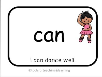 Dolch Pre-Primer Sight Words With Sentences Flashcards