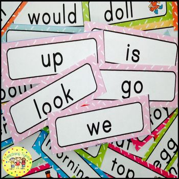 Dolch Pre-Primer Sight Words Word Wall Cards