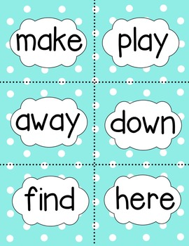 Dolch Pre Primer Sight Words for Spring Full Set FREEBIE