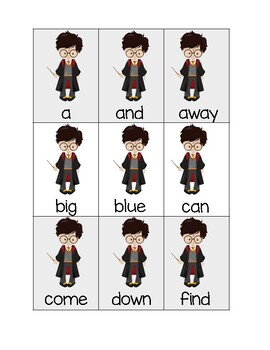 Dolch Pre-Primer Sight word Deck