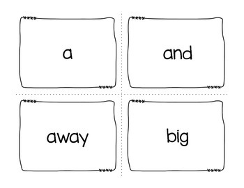 Dolch Pre-Primer Super Sight Word Reader
