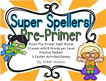 Dolch Pre-Primer Super Sight Word Spellers