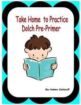 Dolch Pre-Primer Take Home Free Activity