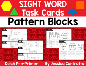 Dolch Pre-Primer Task Cards: Pattern Blocks