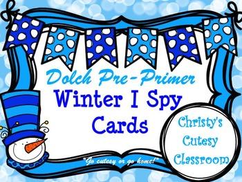 Dolch Pre-Primer Winter I Spy Cards