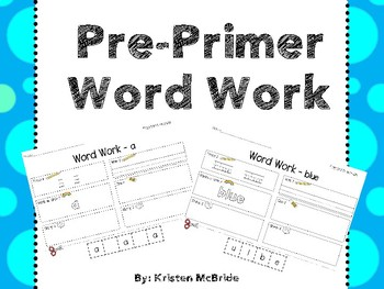 Dolch Pre-Primer Word Word - No Prep