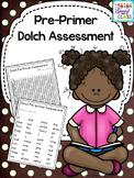 Dolch Pre-Primer Word assessment pack