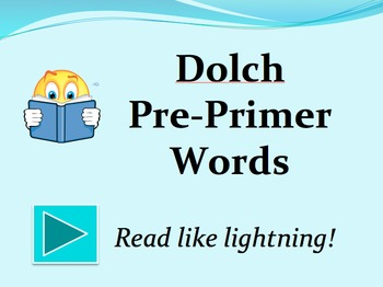 Dolch Pre-Primer Words PowerPoint