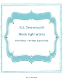 Dolch Pre-Primer and Primer Flash Card Super Pack with Assessments and Records