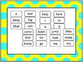Dolch Pre-Primer and Primer Sight Word Flash Cards.  Print