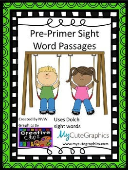 Dolch Pre-Primer and Primer Sight Word Passages BUNDLED