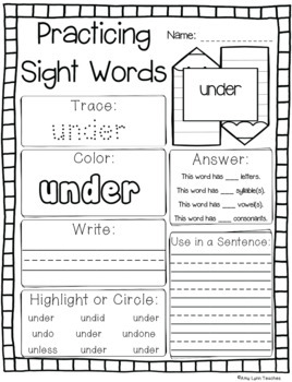 Dolch Pre-Primer and Primer Sight Words Year-Long Activity Pack Bundle