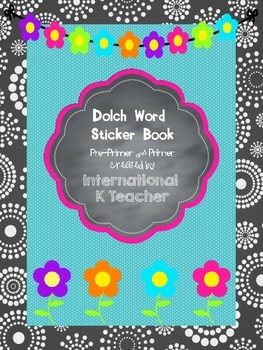FREEBIE Dolch Pre-Primer and Primer Sticker Incentive Book