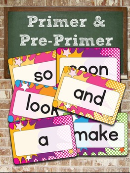 "Dolch Pre-Primer and Primer Super Hero Word Cards – 4"" x 6"" – Vector PDF"