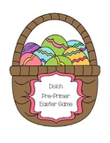 Dolch Pre-Primer sight word Easter egg game