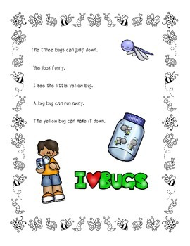 Dolch Sight Word Cards (Bug/Insect Theme
