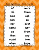 Dolch Pre-Primer to Third Sight Word Lists