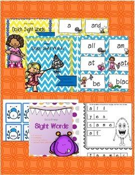 Dolch Pre-Primer/Primer Sight Word Bundle