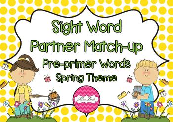 Dolch Pre-primer Partner Match Up Game {Spring Theme}