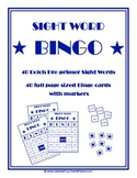 Dolch Pre-primer Sight Word Game - Bingo!