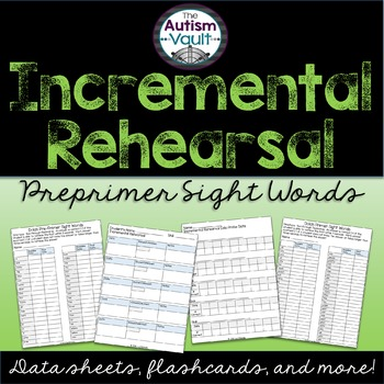 Dolch Pre-primer Sight Word Incremental Rehearsal Intervention Pack