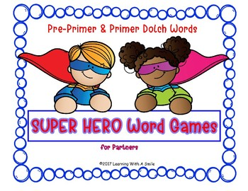 SUPER HERO SIGHT WORD GAMES
