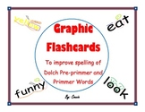Dolch Pre-primmer and Primmer Graphic Spelling Flash Cards