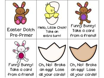 Easter Dolch Sight Words Pre-Primer & Primer Lists