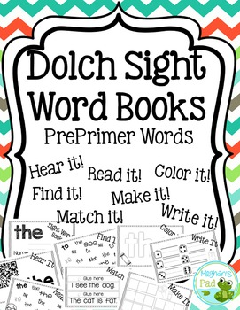 Dolch PrePrimer Word Books