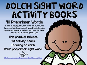 Dolch PREPRIMER Sight Word Activity Books