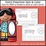 Dolch Preprimer Spin & Color