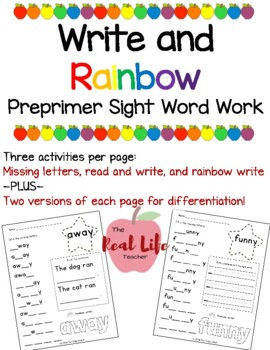Pre-Primer What's Missing? Sight Word Work Center or Indep