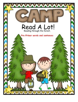 Dolch  Preprimer Words Camping Theme Set 1
