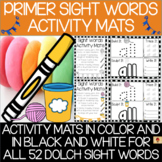 Dolch Primer Sight Words Activity Mats Set